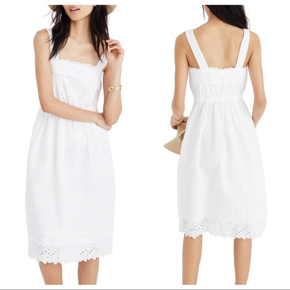 12a761f78ea Madewell Dresses   Skirts - Madewell White Eyelet tiered midi dress